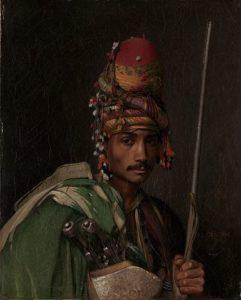 Portrait d'un bachi-bouzouk par le peintre Jean-Léon Gérôme