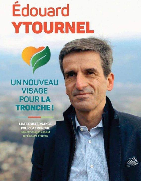 Affiche électorale pour les élections municipales 2020 à la Tronche (Isère)