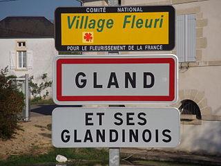 Panneau de la commune de Gland